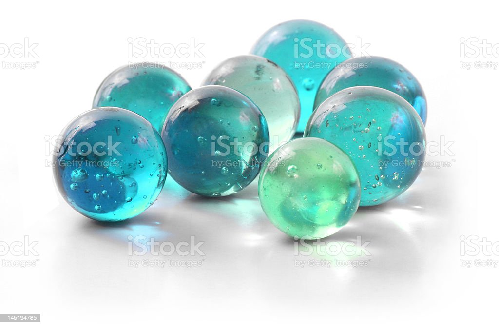 Turquoise Glass Marbles stock photo