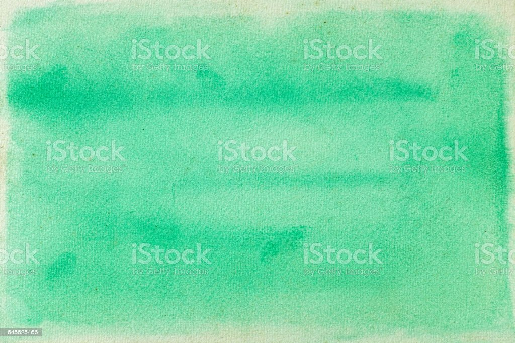 Turquoise grunge watercolour background painting. stock photo