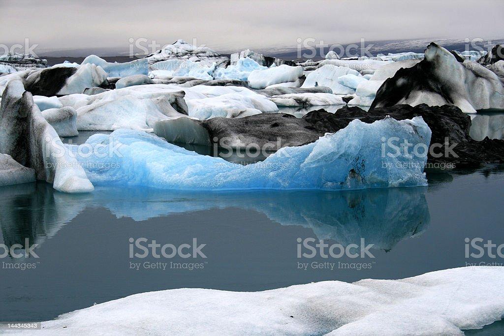 Turquoise iceberg stock photo