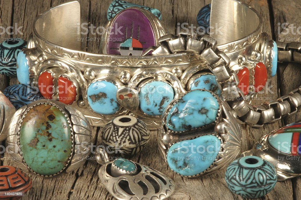 Turquoise Jewelry 5 royalty-free stock photo