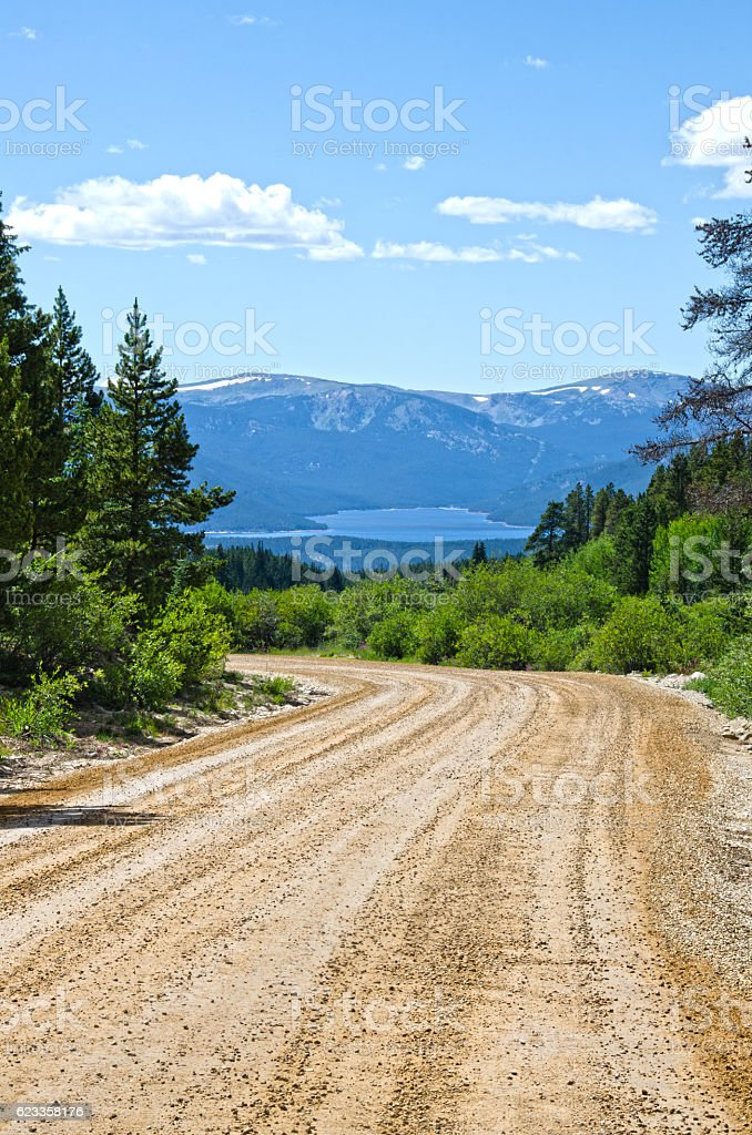 Turquoise Lake from the Leadville Mining District stock photo
