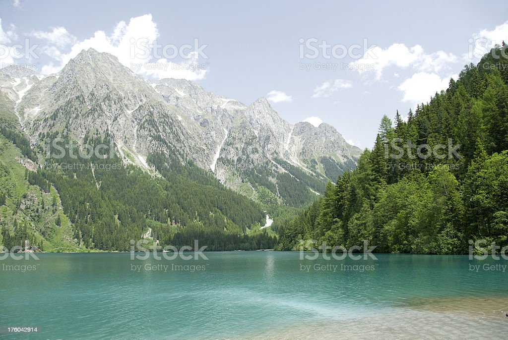 Turquoise lake royalty-free stock photo