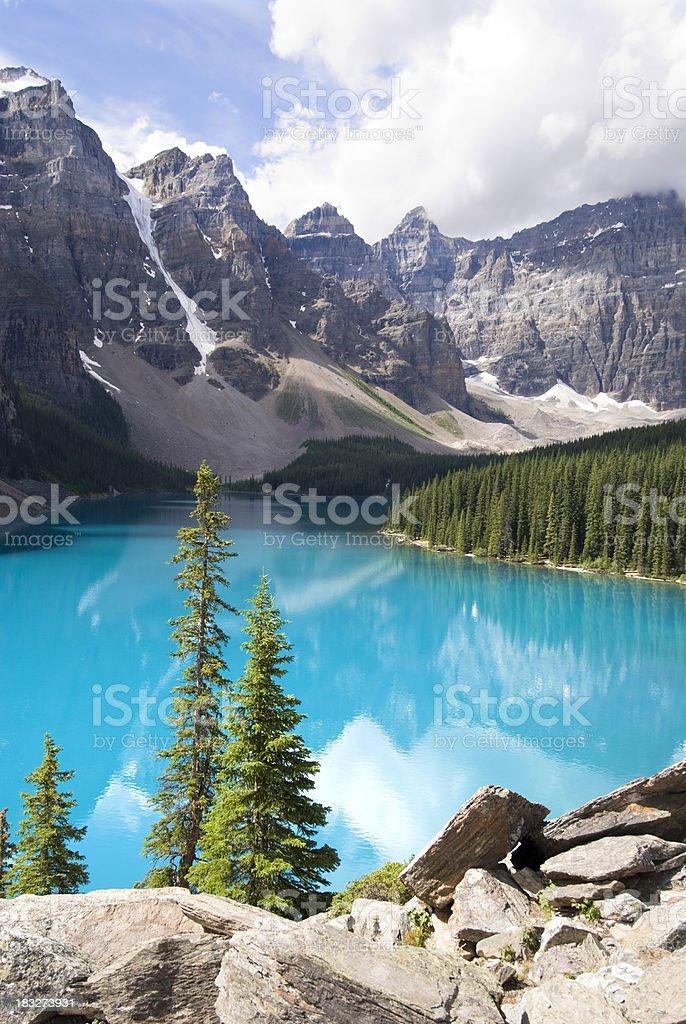 Turquoise Lake stock photo