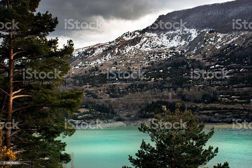Turquoise lake. stock photo