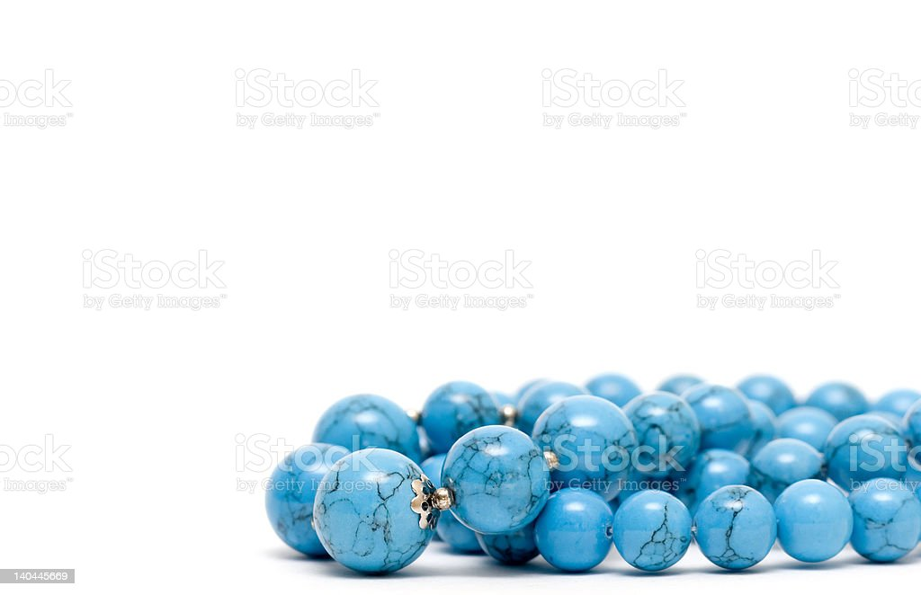 Turquoise mardi gras beads royalty-free stock photo