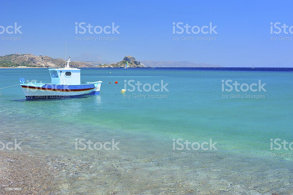 Turquoise Mediterranean sea royalty-free stock photo