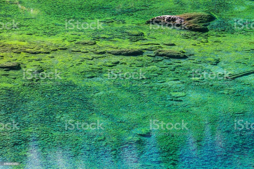 Turquoise Mountain Lake stock photo
