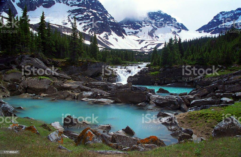 Turquoise Mountain Pools royalty-free stock photo