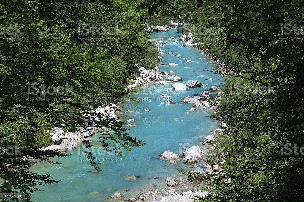 Turquoise Mountain River stock photo