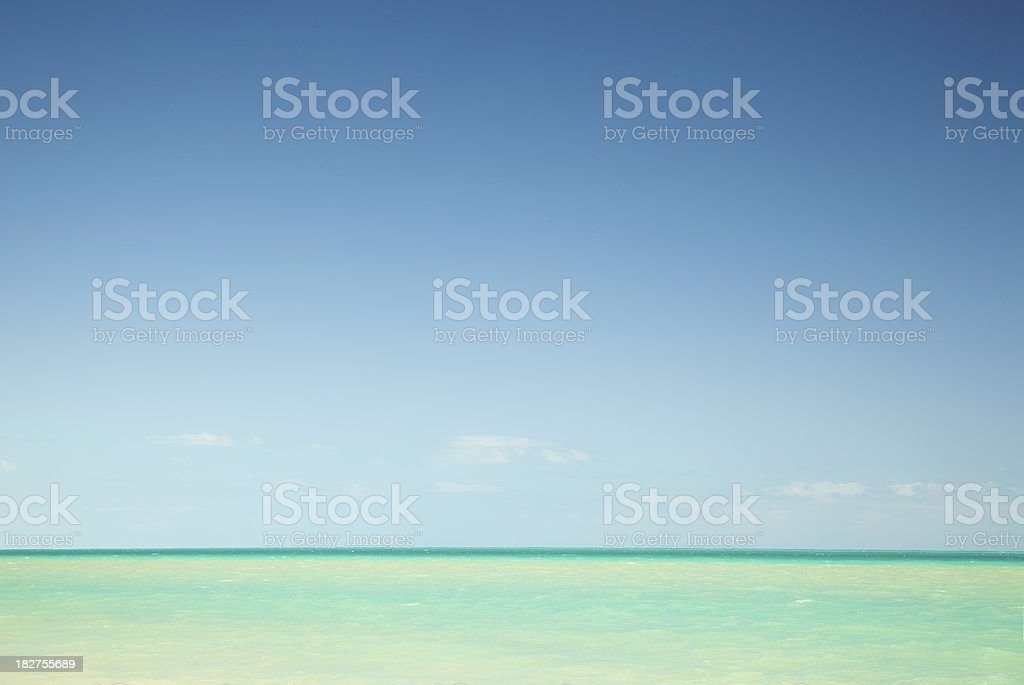 Turquoise ocean in Mexico royalty-free stock photo
