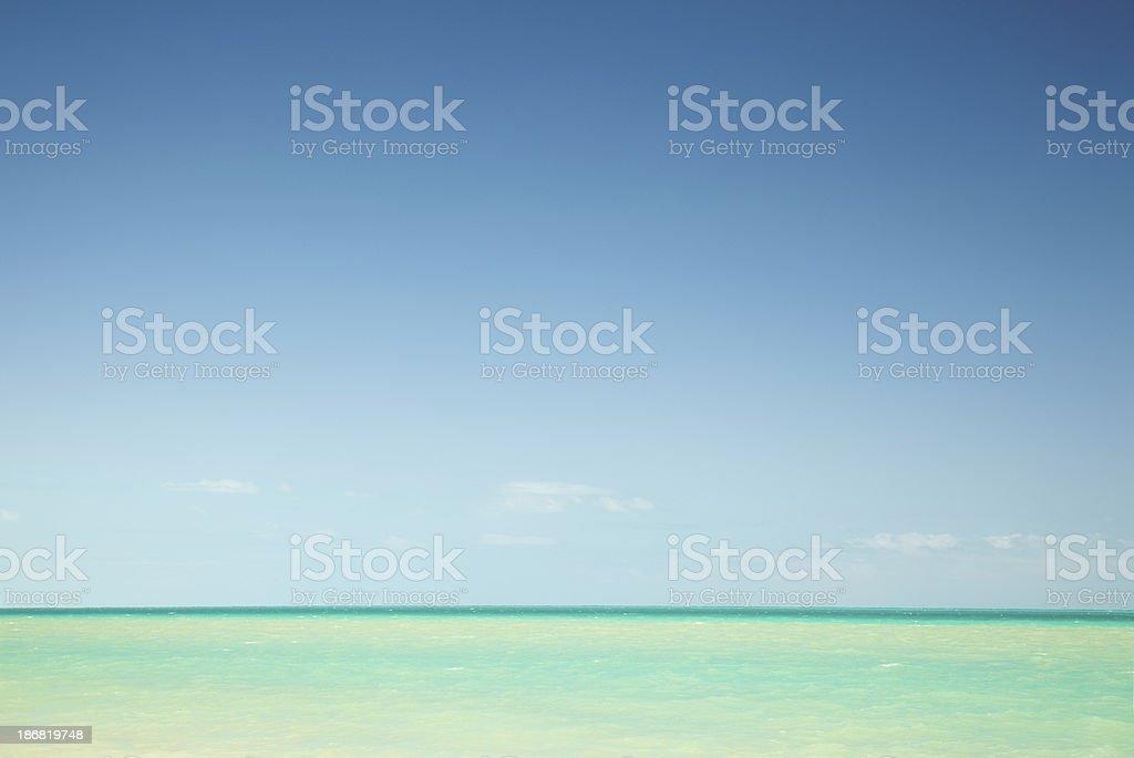 Turquoise ocean in Mexico stock photo