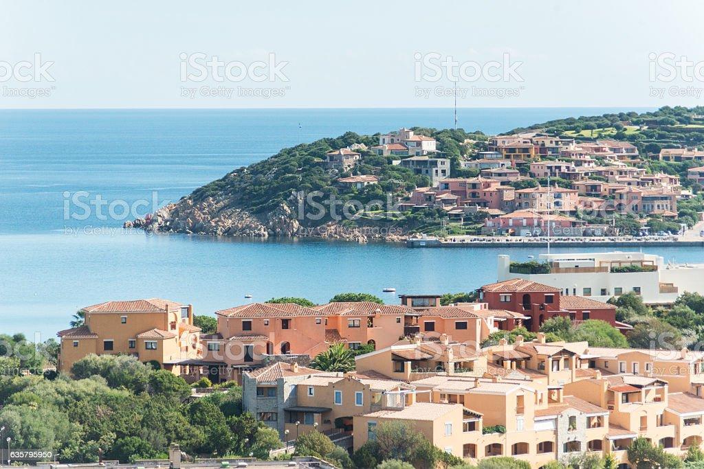 turquoise ocean in Sardinia on costa smeralda stock photo