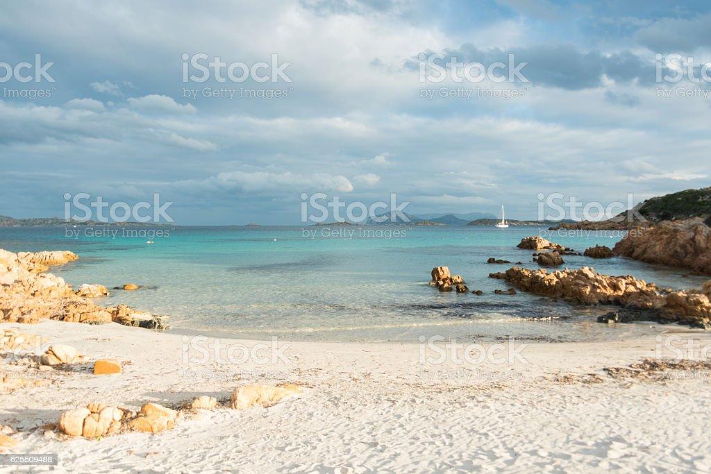 turquoise ocean in Sardinia stock photo