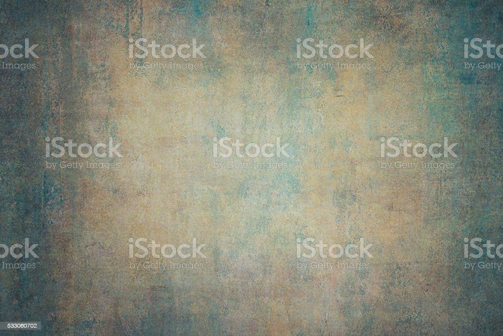Turquoise orange canvas hand-painted backdrops stock photo
