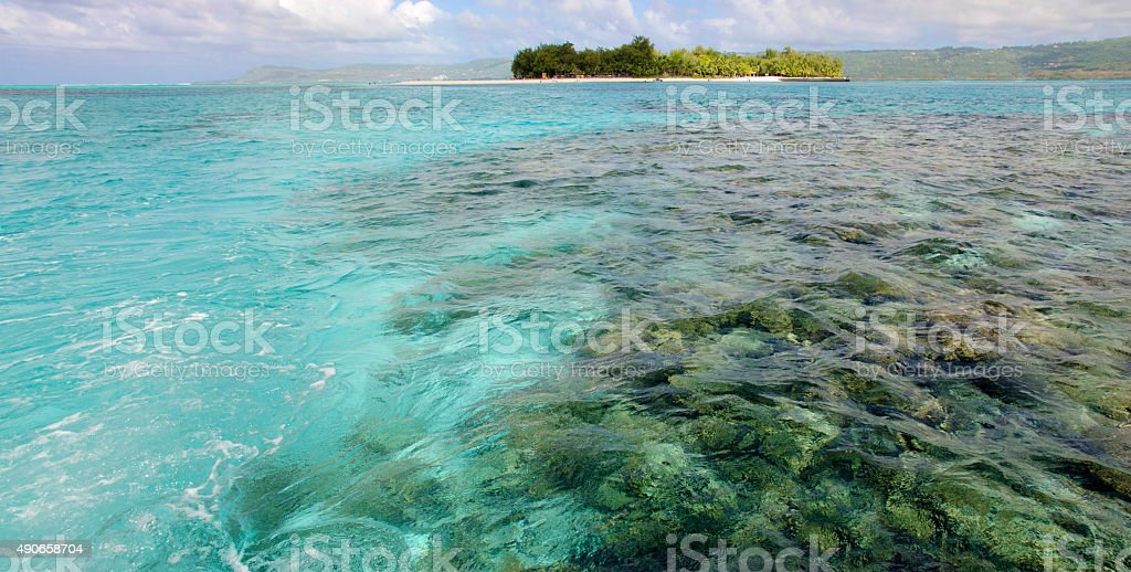 Turquoise Pacific stock photo