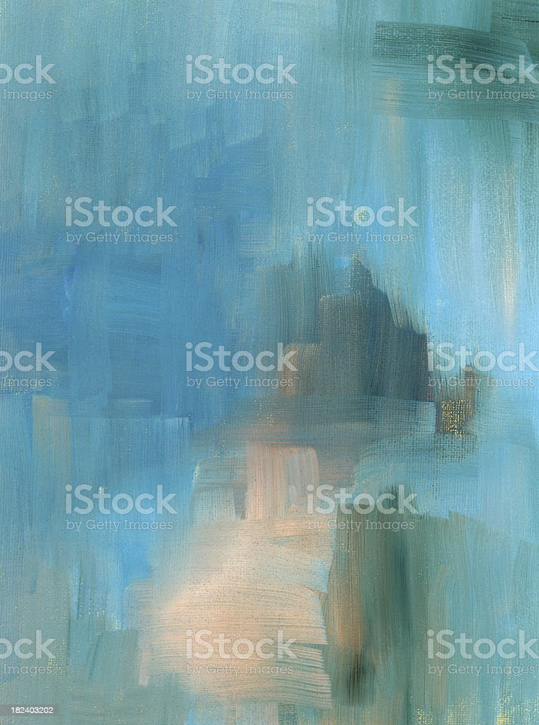 Turquoise painted abstract royalty-free stock photo