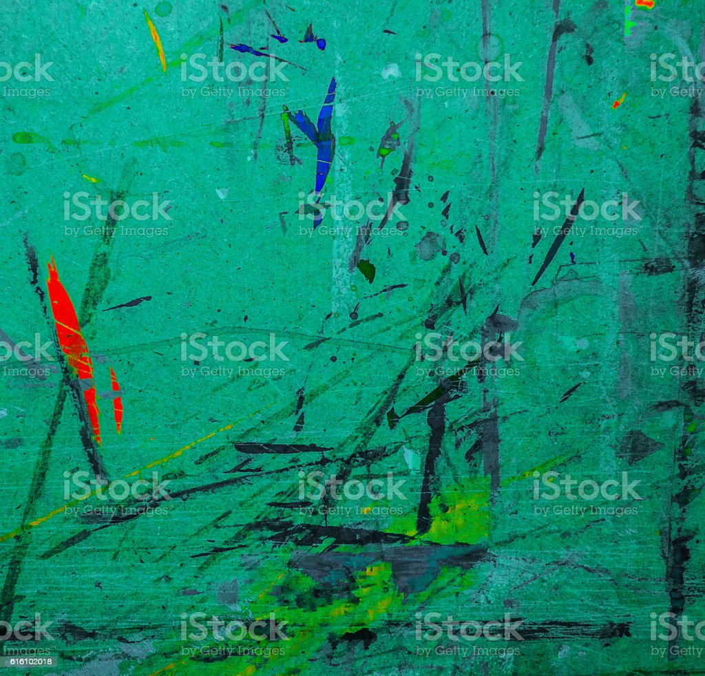 Turquoise Painted paint old canvas for drawing stock photo