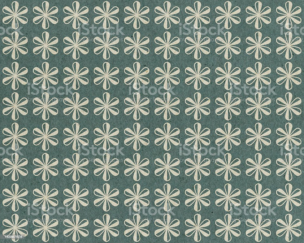 turquoise paper with flower pattern royalty-free stock photo