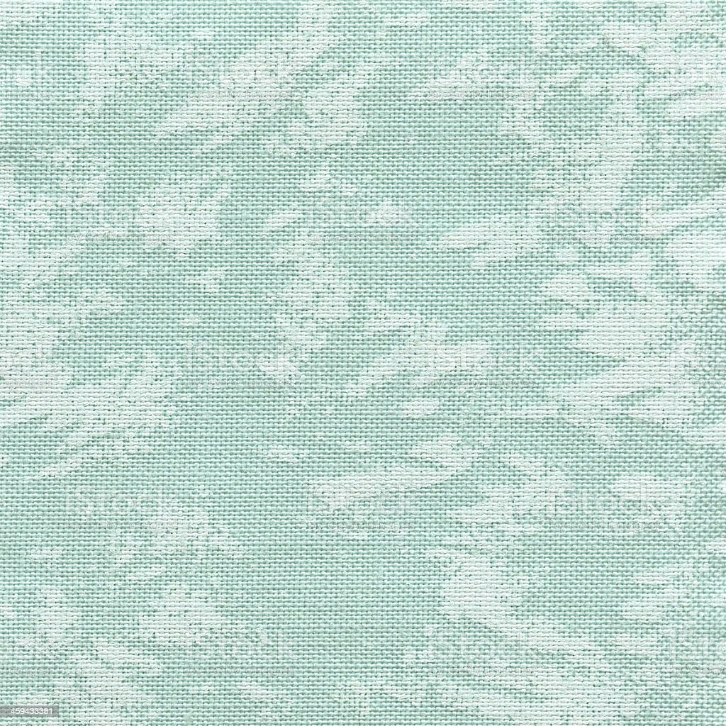 Turquoise Patterned Natural Linen royalty-free stock photo