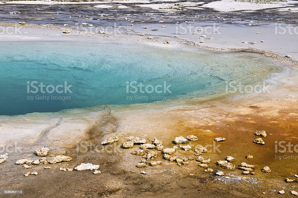 Turquoise pool, Yellowstone National Park, USA stock photo