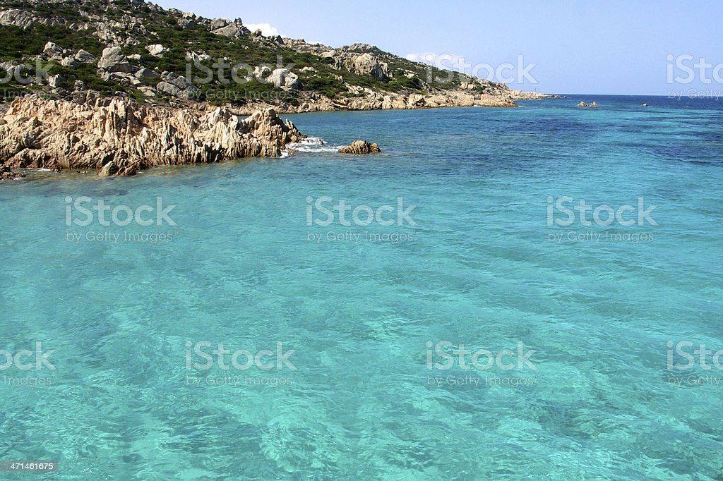 Turquoise ripples stock photo