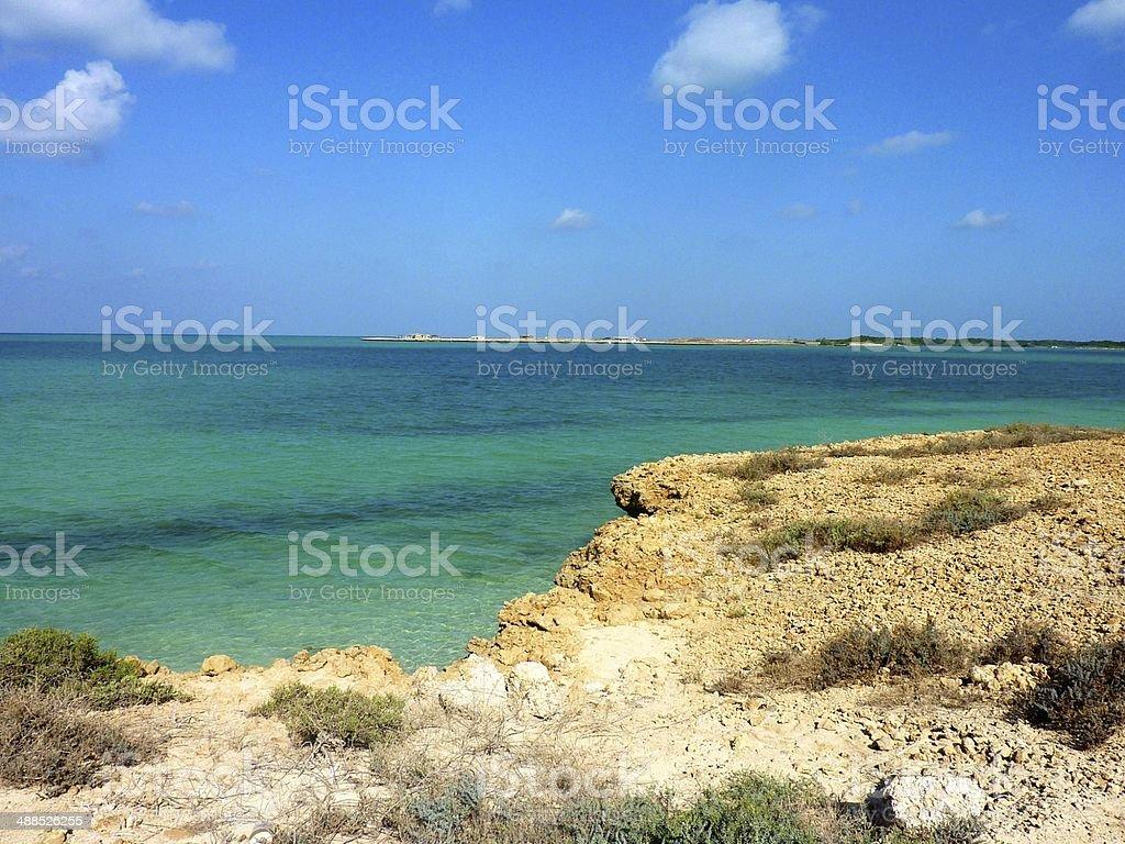 Turquoise Sea in Moucha Island royalty-free stock photo