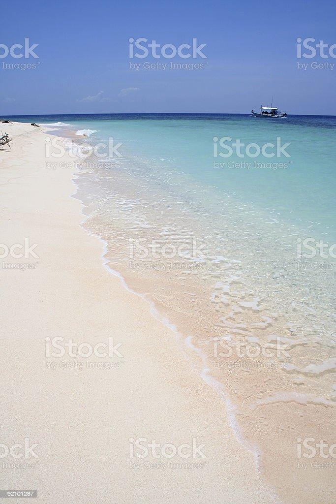 turquoise sea white beach desert island royalty-free stock photo
