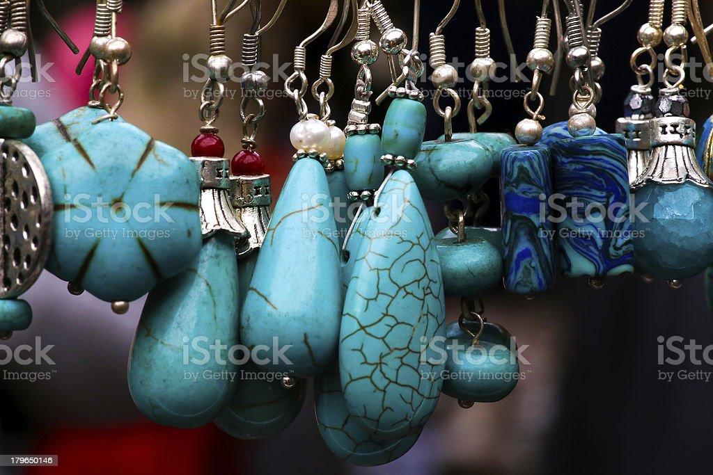 Turquoise Stone Pendants royalty-free stock photo