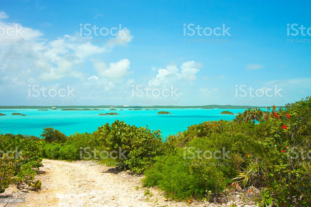 Turquoise Water in the Caribbean stock photo