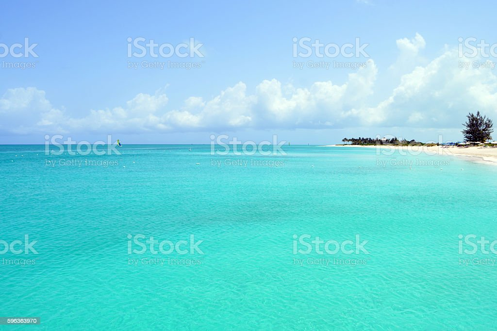 Turquoise Waters in the Turks and Caicos Islands stock photo