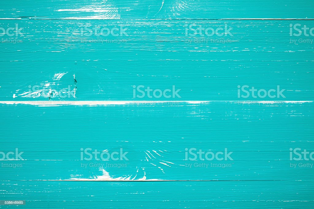 Turquoise Wood background stock photo