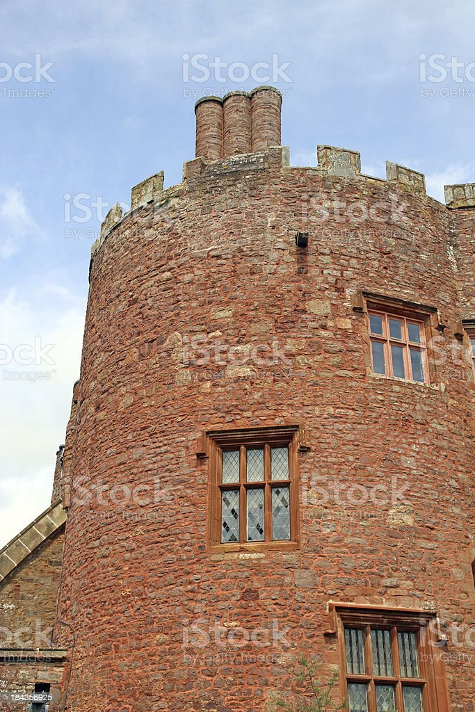 Turret and Battlements stock photo