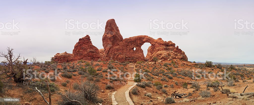 Turret Arch, Arches National Park, Moab, Utah, USA royalty-free stock photo