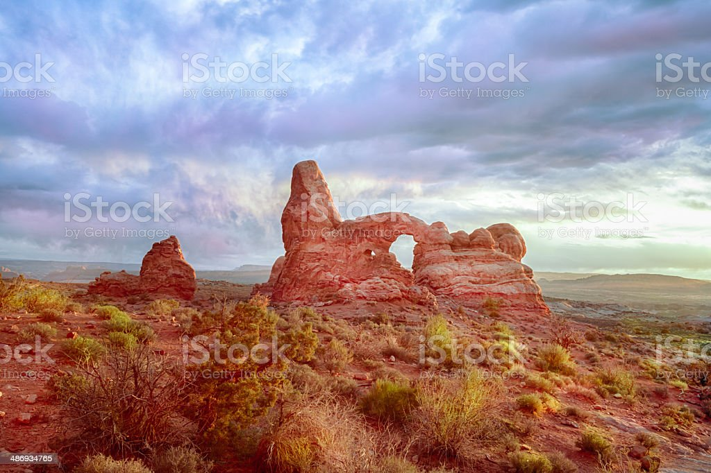 Turret Arch, Arches National Park royalty-free stock photo