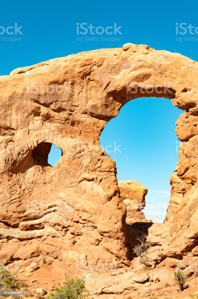 Turret arch, Arches National Park, Utah stock photo