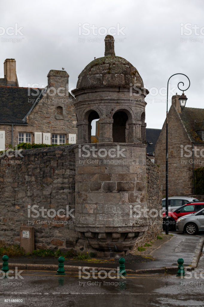 Turret in Roscoff stock photo