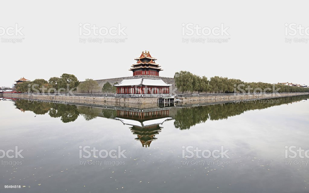 turret of the Forbidden City in Beijing royalty-free stock photo