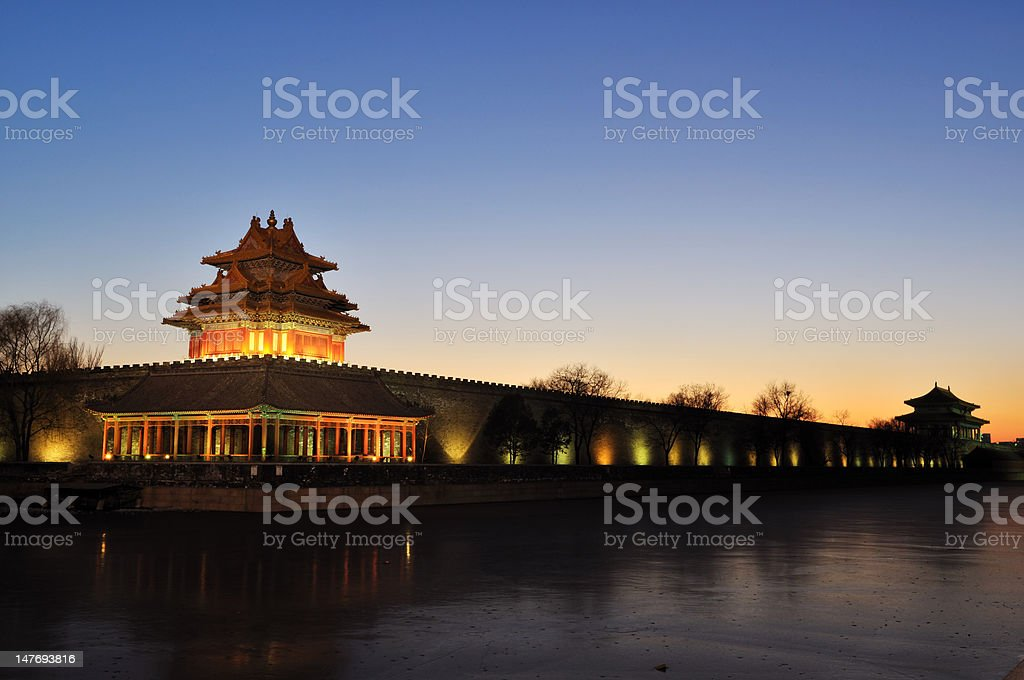 Turret of the Imperial Palace in forbidden city royalty-free stock photo