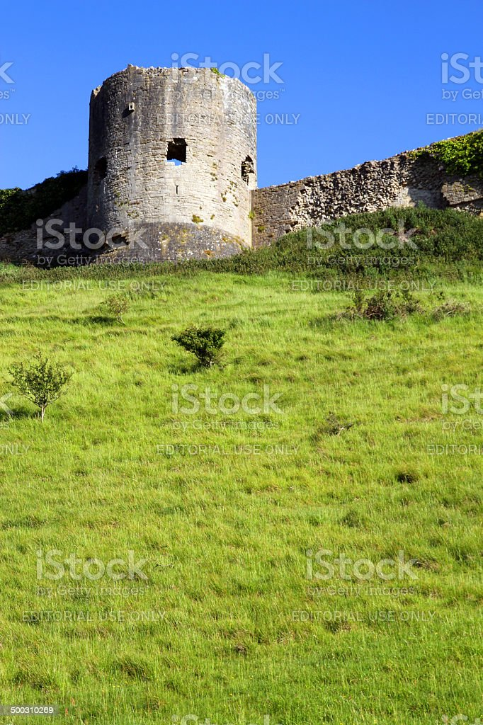 Turret on the Green Hill royalty-free stock photo
