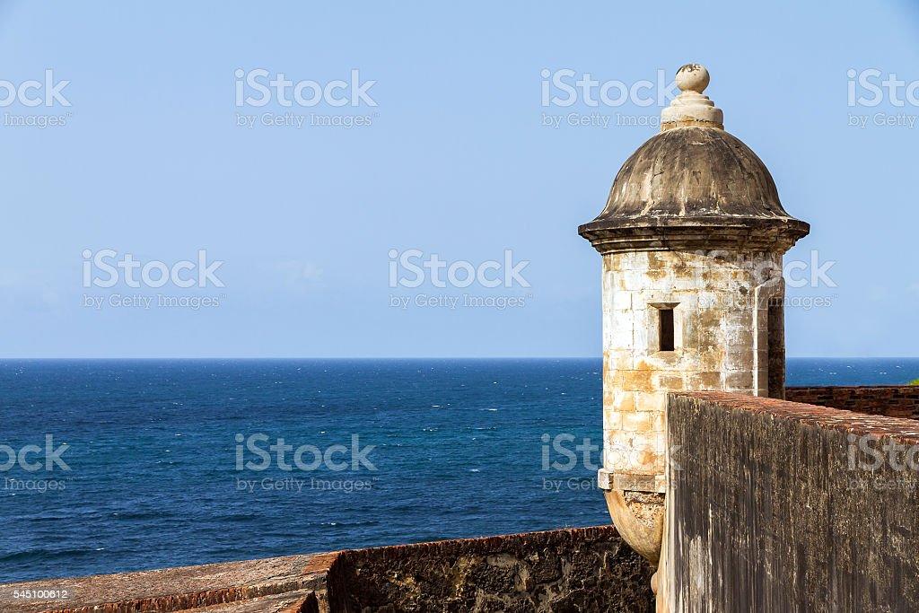Turret San Juan stock photo