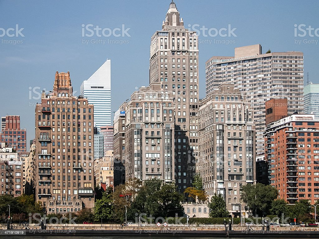 Turtle Bay, Midtown Manhattan, from the East Hudson stock photo