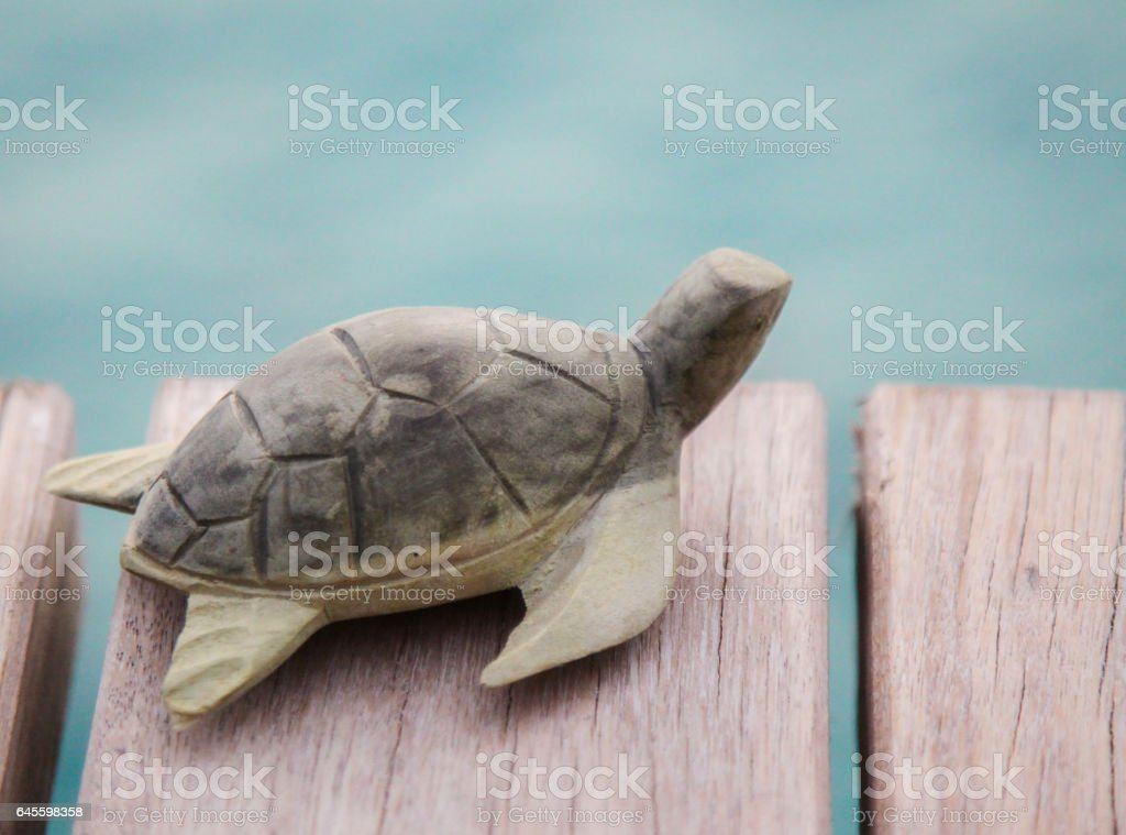 Turtle figurine by Lagoon stock photo