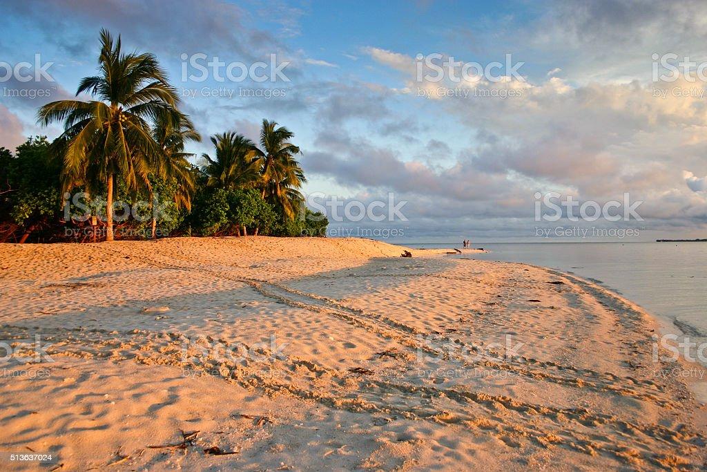 Turtle Island, Selingan Island in Borneo stock photo