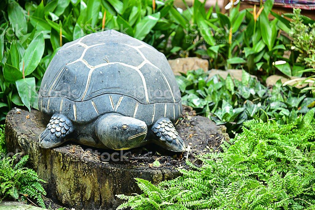 Turtle statue stock photo