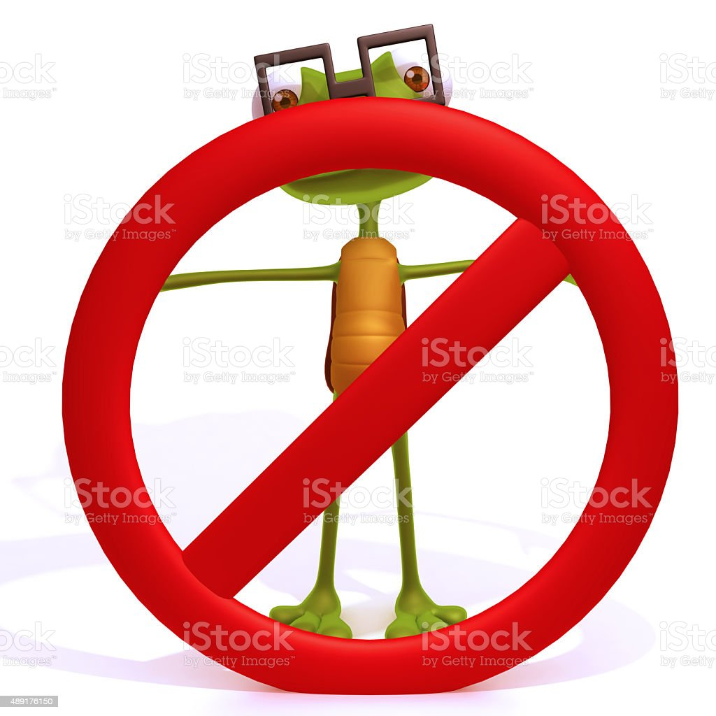 Turtle with a stop sign stock photo