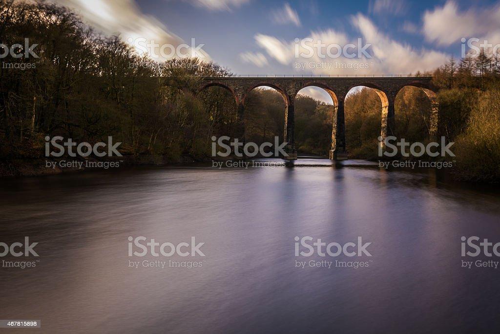 Turton and Entwistle Viaduct. stock photo