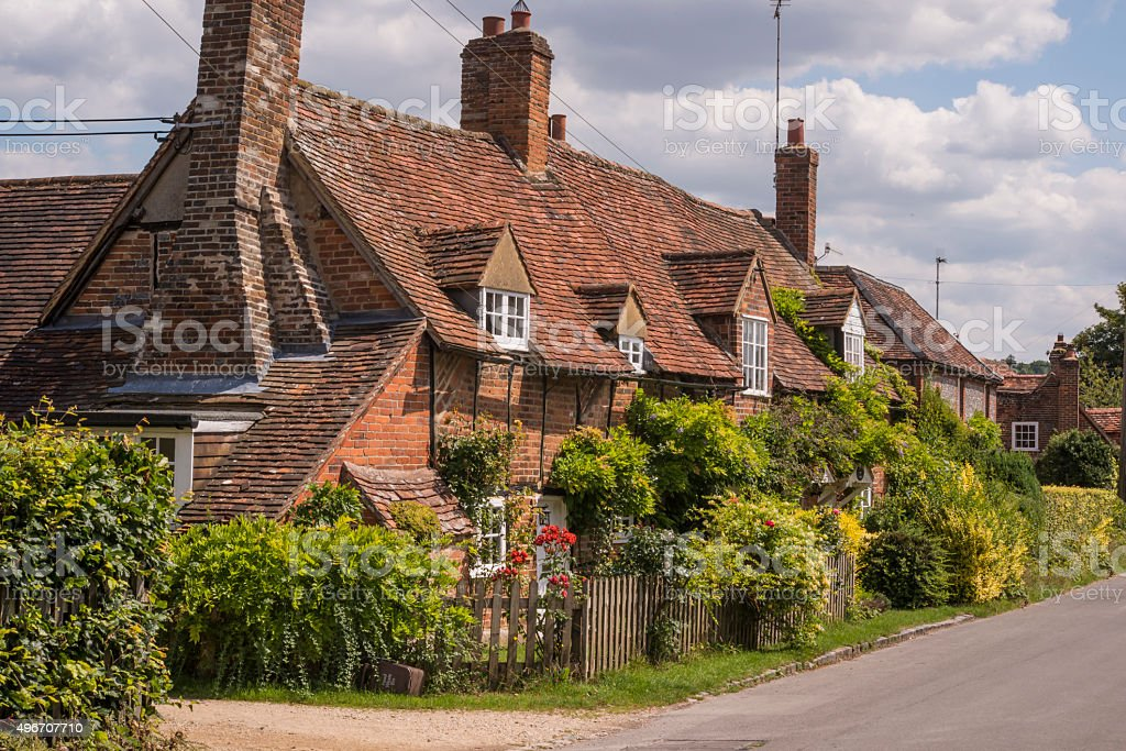 Turville cottages stock photo