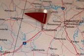 Tuscaloosa, AL, USA - Cities on Map Series