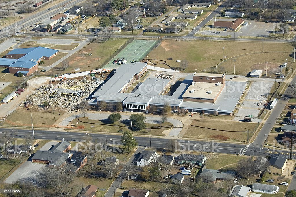 Tuscaloosa Building Demolition stock photo