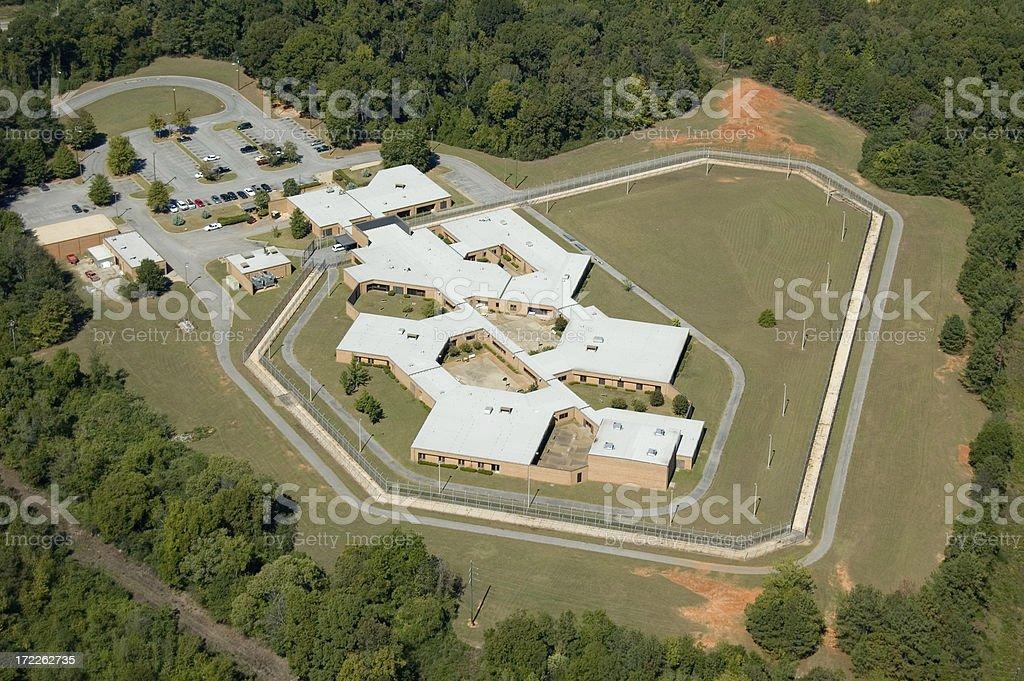 Tuscaloosa Prison Aerial royalty-free stock photo